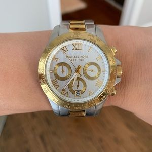 Micheal Kors Gold and Silver Watch